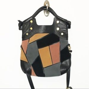 FOLEY + CORINNA Leather Patchwork Lady Tote